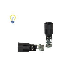 Lamphouders met een kleine, E14 fitting. Fittingen voor lampen, kroonluchters en andere soorten verlichting. Lamphouder van 65 mm lang.