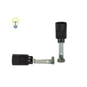 Lamphouders met een kleine, E14 fitting. Fittingen voor lampen, kroonluchters en andere soorten verlichting. Lamphouder van 85 mm lang.