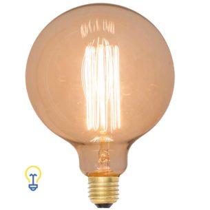 Grote Kooldraadlamp rond Filament Bulb Gloeidraad E27 Grote Fitting Edison