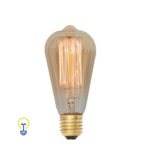 Kooldraadlamp | Een warme Edison filament bulb met grote E27 fitting. Het warme kooldraad geeft een sierlijk en industrieel effect.