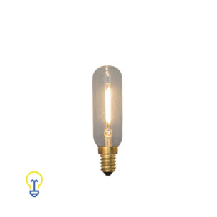 E14 Led-Lamp Buislamp Filament Kooldraad Kleine Fitting | 1W 2200K | Warme led-lampen en filament bulbs kleine fitting E14.