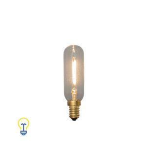 E14 Led-Lamp Buislamp Filament Kooldraad Kleine Fitting | 1W 2200K | Warme led-lampen en filament bulbs kleine fitting E14.