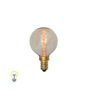 Kooldraadlamp rond klein Filament Bulb Gloeidraad E14 Kleine Fitting Edison