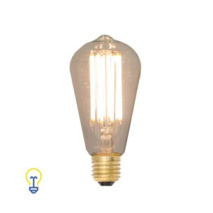 LedLamp Filament Kooldraad Grote fitting 2200K Peervorm Edison bulb