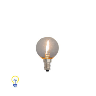 Led-lamp Filament Kooldraad Rond Kleine Fitting 1 Watt | 2200 K dimbaar | Warme Led-lampen en filament bulbs kleine fitting E14.
