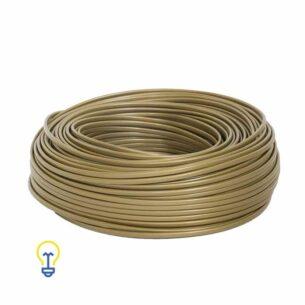 Goudkleurig Elektriciteitssnoer | Huishoudsnoer | Goud snoer plat 2 x 0.75-mm2